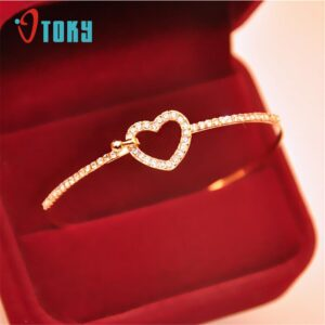 Bangles-OTOKY-Hot-Fashion-Style-Gold-Rhinestone-Love-Heart-Bangle-Cuff-Bangle-Jewelry-Apr22